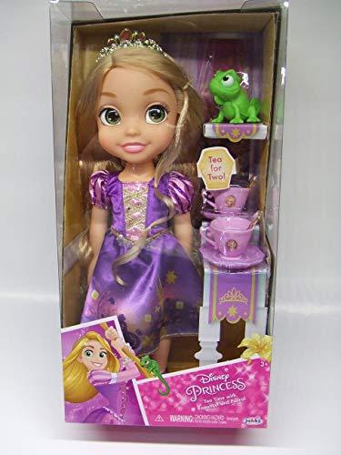Jakks Pacific Disney Princesa Rapunzel 35 cm y Olaf Pascal con Set de Té para Dos Tea Time