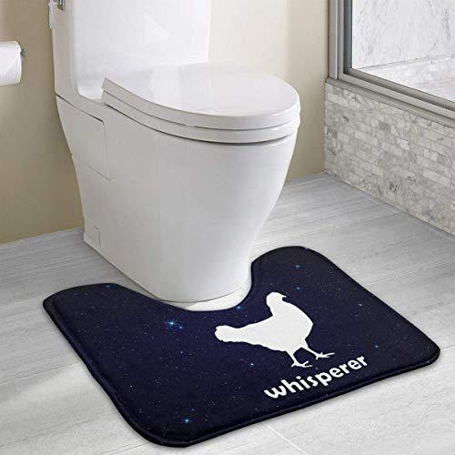 (Hoklcvd Chicken Whisperer1 U-Shaped Toilet Floor Rug Non-Slip Toilet Carpets Bathroom Carpet)