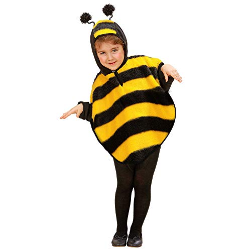 Bumble Bee Kostüm Baby - Widmann 5927E - Poncho Bienenkostüm, Größe
