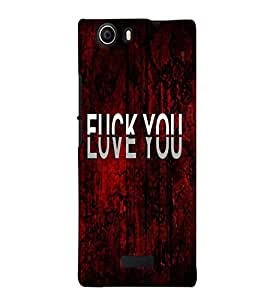 Fuson Love Red Pattern Back Case Cover for MICROMAX CANVAS NITRO 2 E311 - D3703