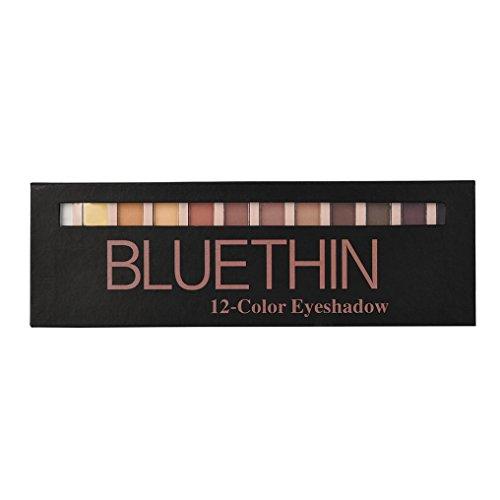 uBabamama 12 Farben schimmernder Glitter Lidschatten Kosmetik Make-up Lidschatten Puder Palette Matt