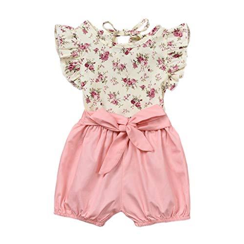9f596f9af Siswong Ensembles de Bébé Filles Bébé Fille Vêtements de Tenue Floral  T-Shirt Tops +