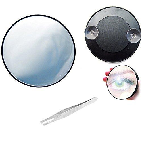 Merssavo 10Fach Saugnapf Kosmetikspiegel Make Up Vergrößerungsspiegel Schminkspiegel Neu