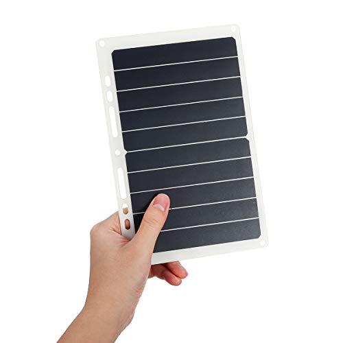 ChaRLes 10W 6V 1.7A Tragbare USB Solar Panel Solar Power Bank W/Ring Binder Eyelet (Power Solar Zelle Bank)