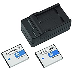 mondpalast@ 2X Reemplazo batería Li-ion type NP-BN1 NPBN1 650mAh + cargador para Sony Cybershot , DSC-WX9, DSC-WX30, DSC-WX50, , DSC-WX150, DSC-QX100, DSC-T99, DSC-T110, DSC-TF1, DSC-TX9, DSC-TX10, DSC-TX20, DSC-TX30, DSC-TX55, DSC-TX66, DSC-TX100V, DSC-TX200V, ,DSC-W380, DSC-W390, DSC-W510, DSC-W515PS, DSC-W520, DSC-W530, DSC-W550, DSC-W560, DSC-W570, DSC-W580, DSC-W610, DSC-W620, DSC-W650, DSC-W690, DSC-W710, DSC-W730, DSC-W810, DSC-W830