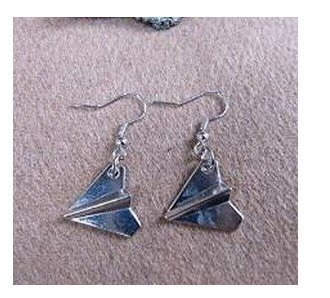 Gorgeous earrings-gift Harry Styles Papierflieger Ohrringe, Mode Silber Ohrringe (Harry Styles Und Halloween)