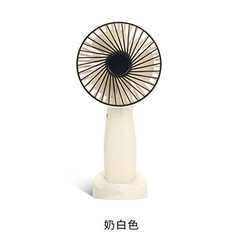Tragbar Handheld Fan,Mini USB Schreibtisch Fan Klein Persönlich Spaziergänger Tabelle Fan Wiederaufladbar Batterie Betrieben Abkühlen Elektrisch Fan Für Reisen Büro Zimmer Haushalt-Weiß-19*9.5*7Cm