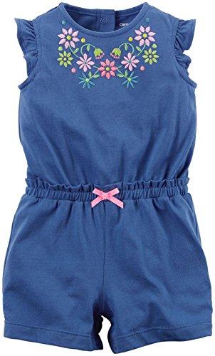 Carters Jumpsuit (Carter's Jumpsuit Baby Sommer Overall Einteiler Body Mädchen girl onesie (3 Monate, blau))