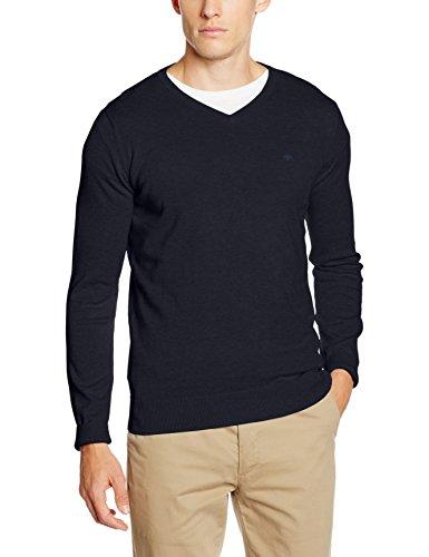 TOM TAILOR Herren Pullover Basic v-Neck Sweater, Blau (Knitted Navy 6800), XX-Large