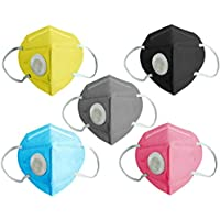 Charge Zero N95 Face Mask (Pack of 5), Special Safety Mask, Anti-Bacterial N95 Mask with Butterfly type Working Silicon…