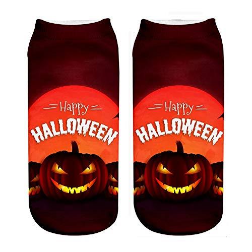 mungsaktive 5 Paar Neue 3D Print Kinder Socken Halloween Kürbis Muster Jungen und Mädchen Herbst Und Winter Baumwollsocken Hochwertige Lässige Komfortable Baumwollsocken ()