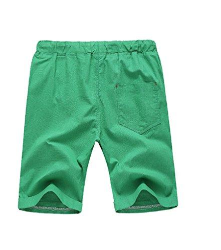 NiSeng Herren große Größe Casual Shorts Urlaub Strand-Shorts Sommer Badeshorts Surf Swim Shorts BoardShorts Elastische Taille Smaragd