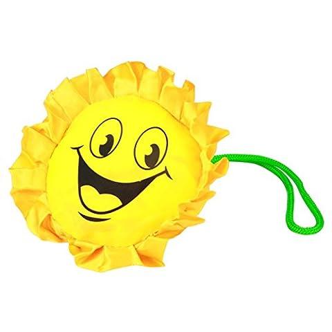 sunnymi Karikatur Mini Faltbare Gelb Shopper Einkaufstaschen/Faltbar Wiederverwendbar/Nylon Carrybag Material/Easy-Shopper Standard/Eco Handtaschenlagerung/Reise Einkaufen/Gute Qualität/Gefaltete 8x14cm/entfaltete 37X54cm (Papier Bag System)