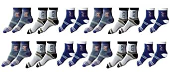 Zacharias Men's Ankle Socks(Assorted) - Pack of 12