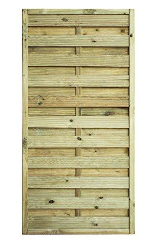 Sichtschutzzaun Kiefernholz 180x180cm Gartenzaun Dichtzaun Bogendesign Holz Zuan