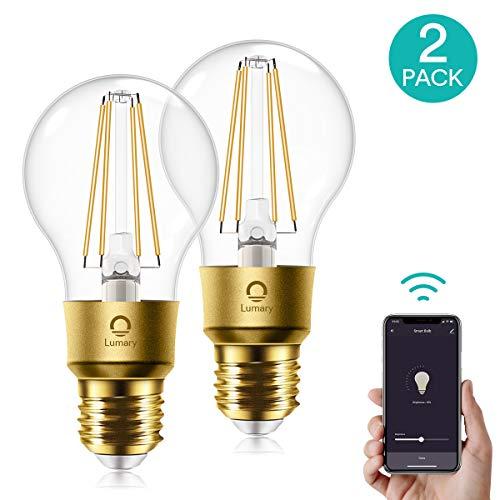 Angebot: WLAN Glühbirne Alexa,Lumary WiFi Smart Edison Vintage LED Glühbirne E27,6W ersetzt 60W Dimmbar Smart Edison LED Lampe,Warmweiß 2700K Retro Glühlampe kompatibel mit Alexa,Google Assistant,700LM,2 Stück für nur 28,89 € statt bisher 35,99 € auf Amazon