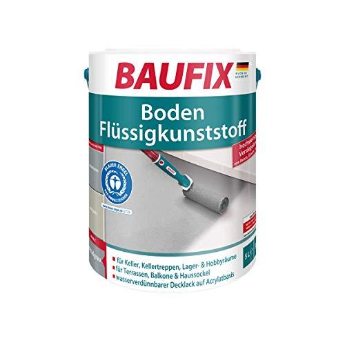 BAUFIX  Boden-Flüssigkunststoff Decklack Weiß