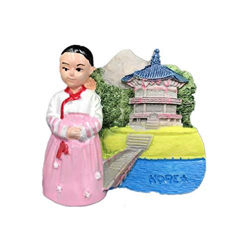 Bella Magnet Frigo Aimant Frigo Aimant Réfrigérateur Voyage Vacances Souvenir de La Corée Costume Coréen Fridge Magnet Sticker Décor Maison