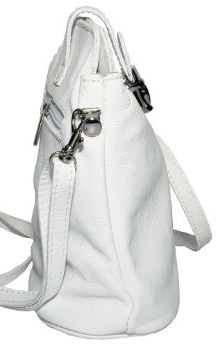 Vero cuoio italiano morbido o effetto struzzo, attraversare il piccolo corpo o spalla borsetta.Include una custodia protettiva marca Bianca morbida pelle