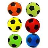 20cm Soft Foam Sponge Indoor Football Soccer Ball Various Colours