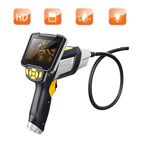 Slinlu Hand-Endoskop Digital Industrial Endoscope1080P, Endoskop-Videoskop mit wasserdichter Inspektionskamera IP67, 4,3-Zoll-Farb-LCD-Bildschirm,10M
