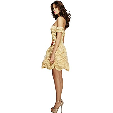 Goldenes Prinzessinnenkleid Königin Minikleid S 36/38 Märchen Prinzessinnen Kleid Sexy Prinzessin Kostüm Karneval Kostüme Damen Cinderella Faschingskostüm Aschenputtel Märchenkostüm