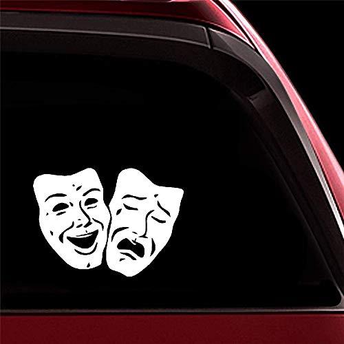 Sticker carro 17.5X12.6Cm Máscaras teatro Decoración