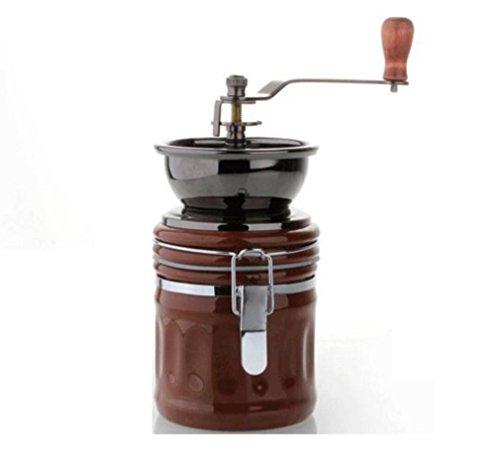 188228b93f24 Nola Sang Molinillo de café de mano Molinillo de cerámica de molino de  acero inoxidable Molinillo manual de grano de café