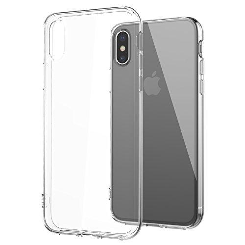 Yokata iPhone X Hülle Transparent Weiche Silikon Handyhülle Schutzhülle Crystal Clear Ultra Dünn Durchsichtige Backcover Handytasche TPU Bumper Anti-stoß Schutz für iPhone X Case Cover