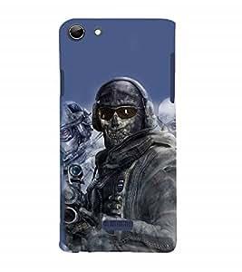 Nextgen Designer Mobile Skin for Micromax Canvas Selfie 3 Q348 (Skeleton Man Skeleton Warrior Skeleton Army Fighter)