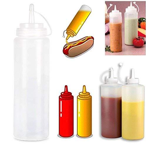 Mayitr 6pcs Plastico Botella Squeeze Dispensador para Mostaza Ketchup