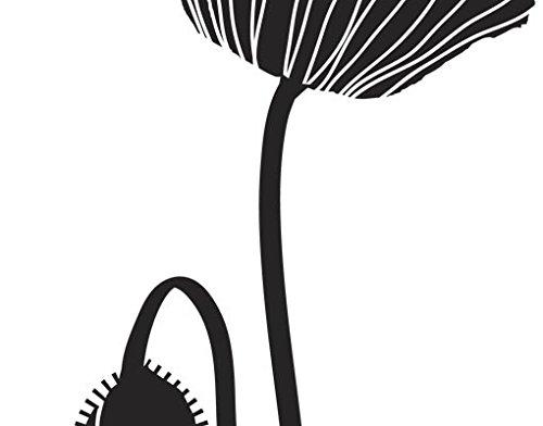 Wandtattoo No.UL85 Mohnblume 2 Pflanze Blumen Frühling Mohn Blüte, Farbe:Dunkelrot;Größe:70cm x 27cm (Mohnblumen Wandtattoo)