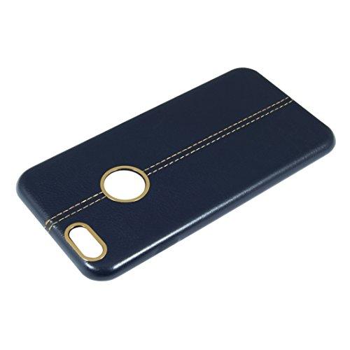 "NOMAD CASE Für Apple iPhone 7 4,7"" Apple iPhone 7 Etui Flip Cover Leder imitat Handy Tasche Hülle (Weinrot / Burgundy) Dunkel Blau / Navy Blue"