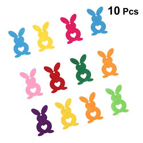 Amosfun coniglio non tessuto di pasqua decorazione coniglietto carino creativo per abbigliamento regalo borsa fai da te