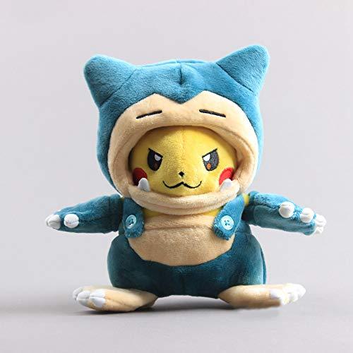 lzpoyaya Cartoon Anime Pikachu Snorlax Kostüm Plüschtier, Kabigon Maniac Weiche Gefüllte Puppen, Geburtstag Kinder 8