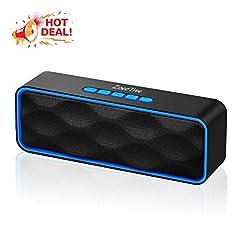 Idea Regalo - ZoeeTree S1 Altoparlante Bluetooth Portatili, Cassa Bluetooth con Audio HD e Bassi Potenziati, Speaker Doppio Driver con Radio FM, Chiamata Senza Mani, Slot per Scheda, Compatibile con Alexa