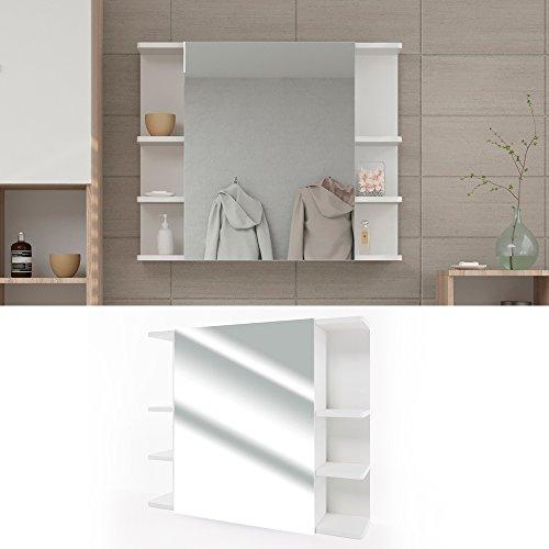 Badezimmerspiegel Spiegel Hängespiegel Spiegelschrank Badezimmermöbel Badspiegel 80x64 cm Weiß -
