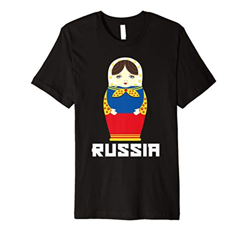 Russisch Matroschka Shirt Russland National Flagge T-Shirt