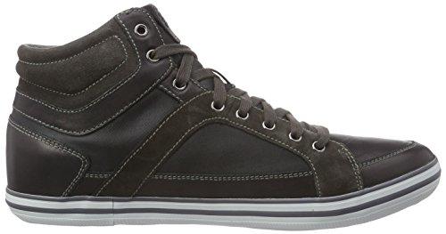 Geox U Box E, Sneakers Hautes homme Schwarz (BLACKC9999)