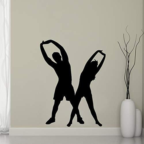 Hombre mujer aeróbicos pegatinas pared decoración