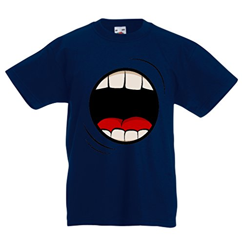 funny-t-shirts-for-kids-the-scream-7-8-years-dark-blue-multi-color