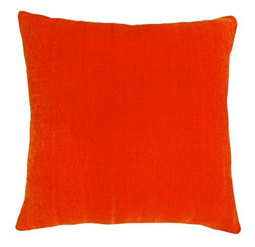 Hauptdécor Wurfkissen- solid orange Dekorativen Samt Kissenbezug - Grösse wählen (Wurfkissen Orange)