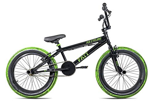 KS Cycling BMX Freestyle 20'' Fatt schwarz-grün