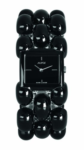 Alfex – 5681 _ 769 – Ladies Watch – Analogue Quartz – Black Stainless Steel Bracelet