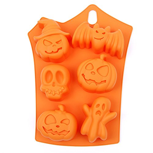 Lumanuby 1x Halloween Fledermäuse Backformen Silikon Multifunctional Kuchenform -