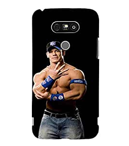 For LG G5 :: LG G5 Dual H860N :: LG G5 Speed H858 H850 VS987 H820 LS992 H830 US992 fighter man, man, black background Designer Printed High Quality Smooth Matte Protective Mobile Pouch Back Case Cover by BUZZWORLD