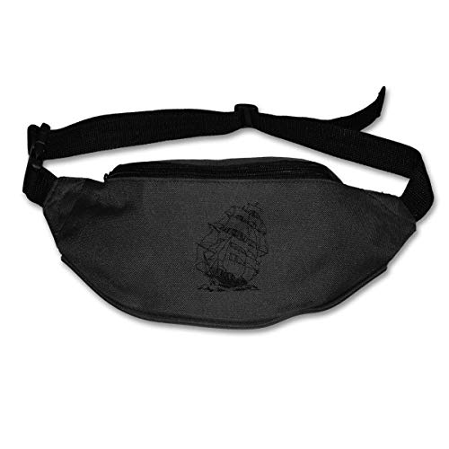 Waist Bag Fanny Pack A Pirate Boat Pouch Running Belt Travel Pocket Outdoor Sports - Pirate Activity Pack