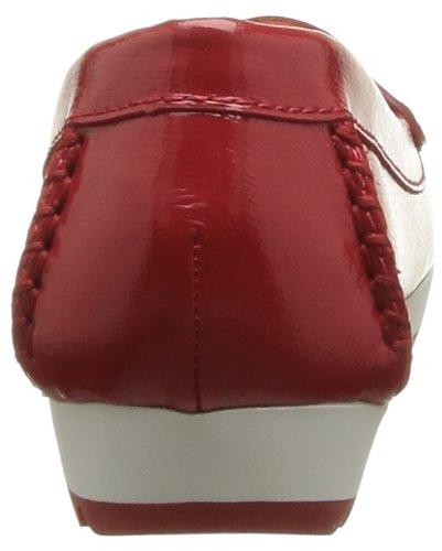 Geox - D Senda S, Mocassini Donna Rosso (Rot/Rouge (Cherry)