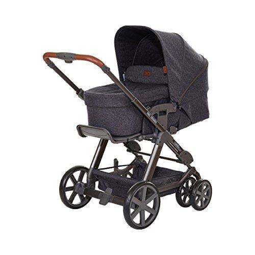 ABC Design Kombi-Kinderwagen Set Turbo 6 - inkl. 3in1 Tragewanne für Neugeborene, Liegefunktion, ausklappbarem Sonnenverdeck, Schieber höhenverstellbar, Sitz drehbar, große Räder - Street