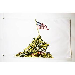 AZ FLAG Flagge USA IWO JIWA 150x90cm - VEREINIGTEN Staaten VON Amerika Fahne 90 x 150 cm - flaggen Top Qualität